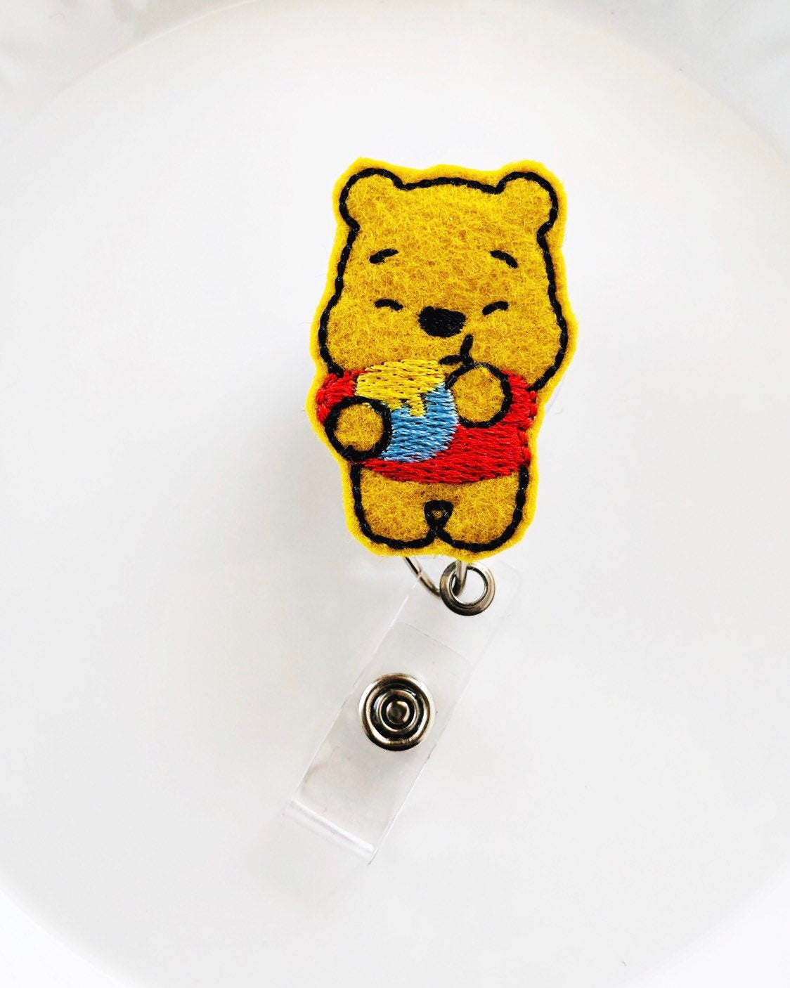 Winnie the Pooh Badge Reel - love tan co.