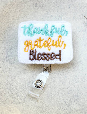 Blessed Badge Reel - love tan co.
