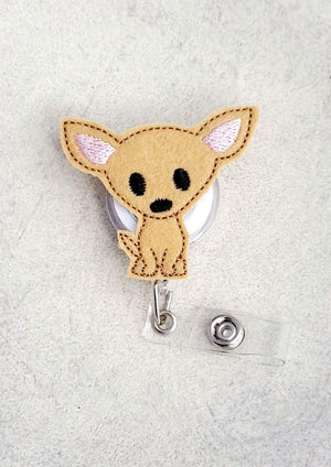 Chihuahua Badge Reel - love tan co.