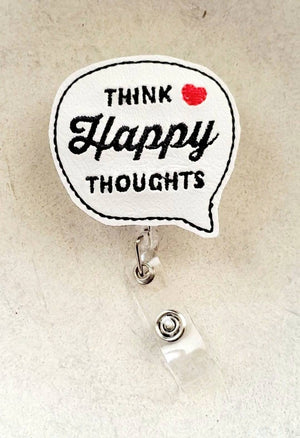Happy Thoughts Badge Reel - love tan co.