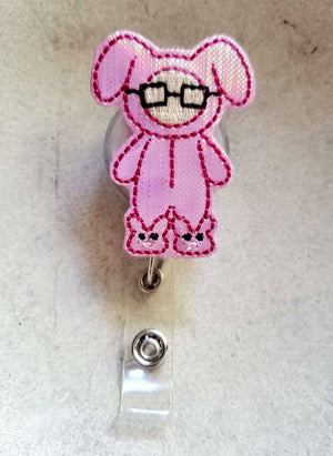 Christmas Story Bunny  Badge Reel - love tan co.