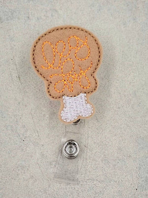Turkey Leg Badge Reel - Thanksgiving - love tan co.