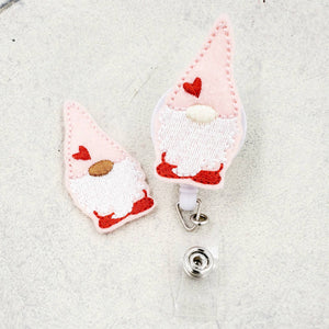 Valentines Day Gnome Badge Reel - - love tan co.