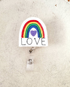 Rainbow Badge Reel - Nurse - love tan co.