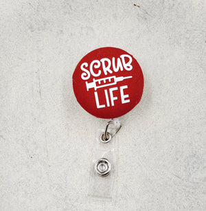 Scrub Life Button Badge Reel - love tan co.