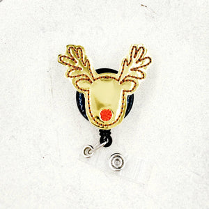 Reindeer Badge Reel - love tan co.