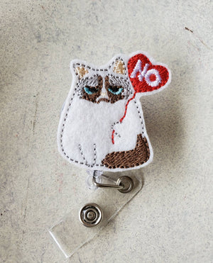 Grumpy Cat Badge Reel - love tan co.