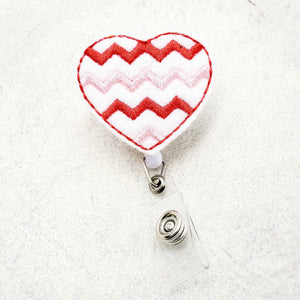 Valentines Day Heart Badge Reel - love tan co.