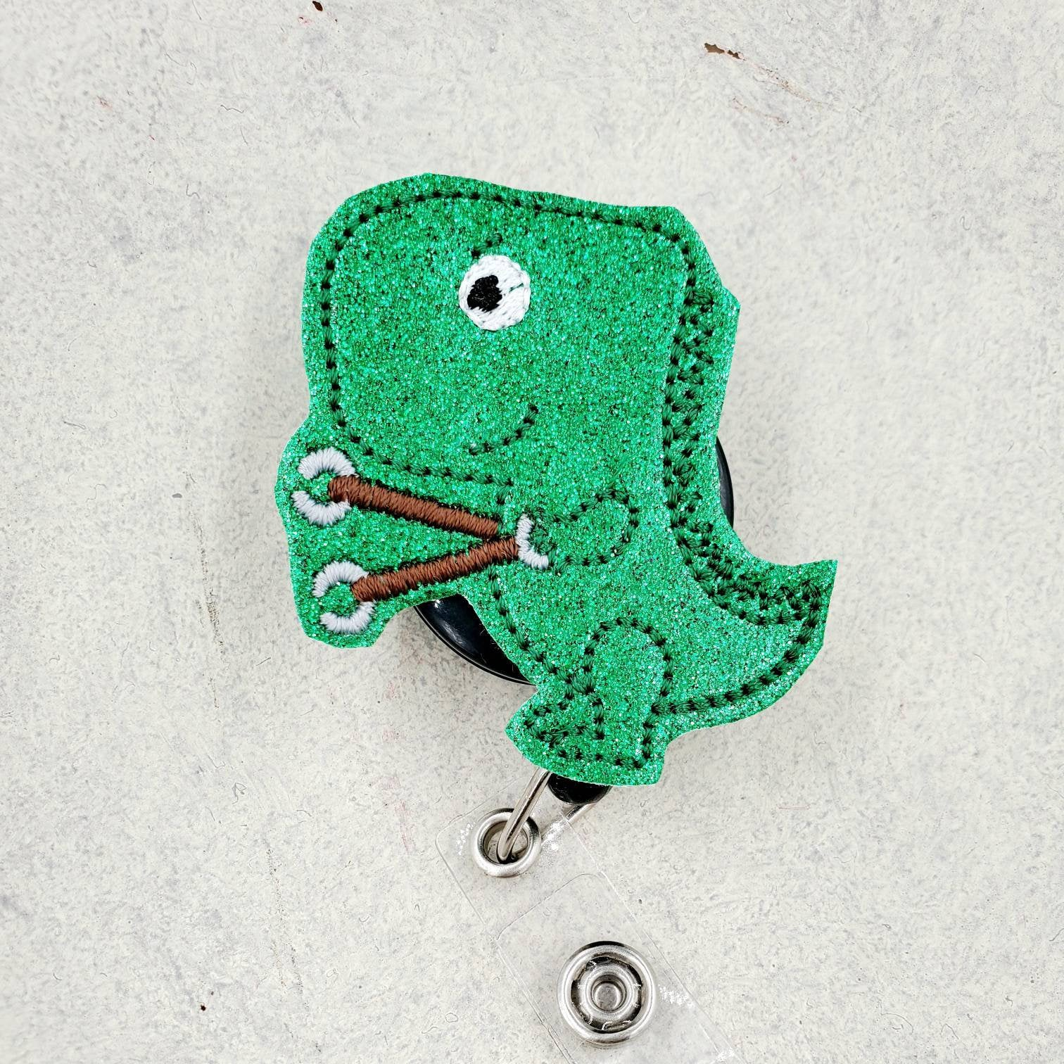 Dinosaura Badge Reel - Animal Badge - love tan co.