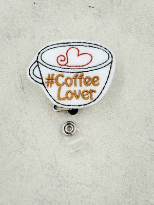 Cappuccino Badge Reel -  Coffee - love tan co.