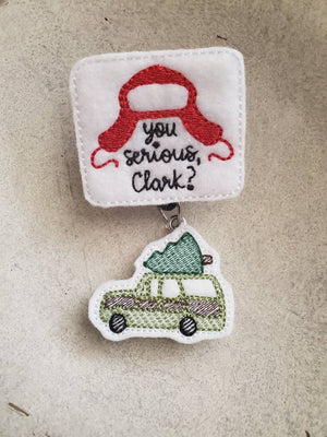 You Serious Clark Badge Reel - Christmas Vacation - love tan co.