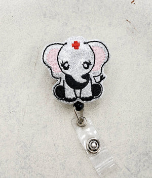 Elephant Nurse Badge Reel - Hospital - love tan co.