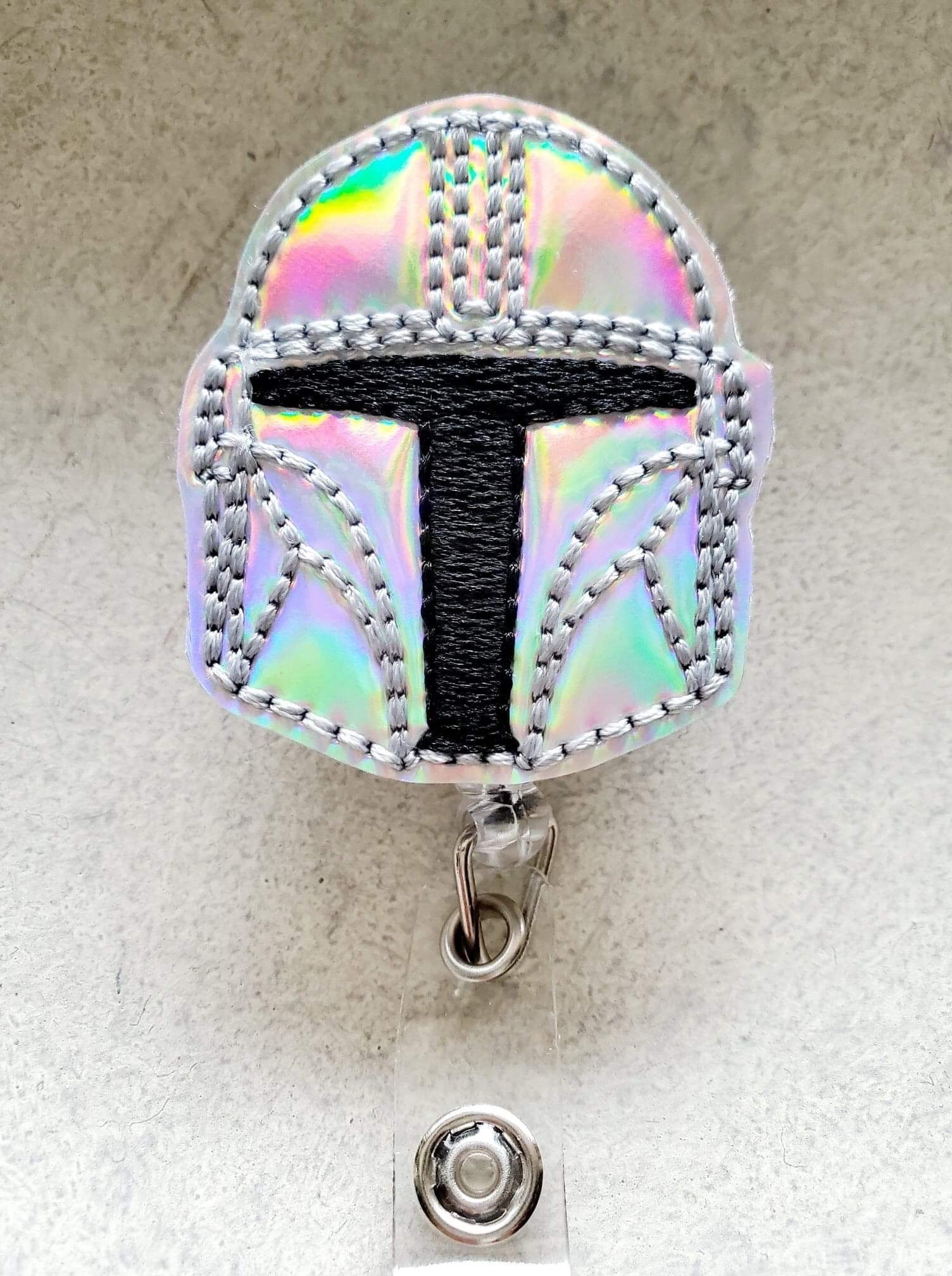 Mandalorian Helmet Badge Reel - love tan co.