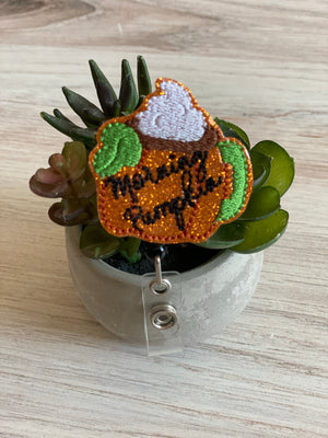 Morning Pumpkin Badge Reel