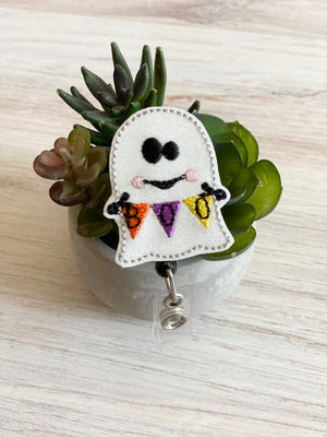 Ghost Boo Banner Badge Reel
