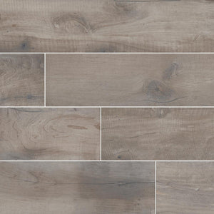 "Country River Stone 6""X 36"" Matte Porcelain Wood Look Tile"