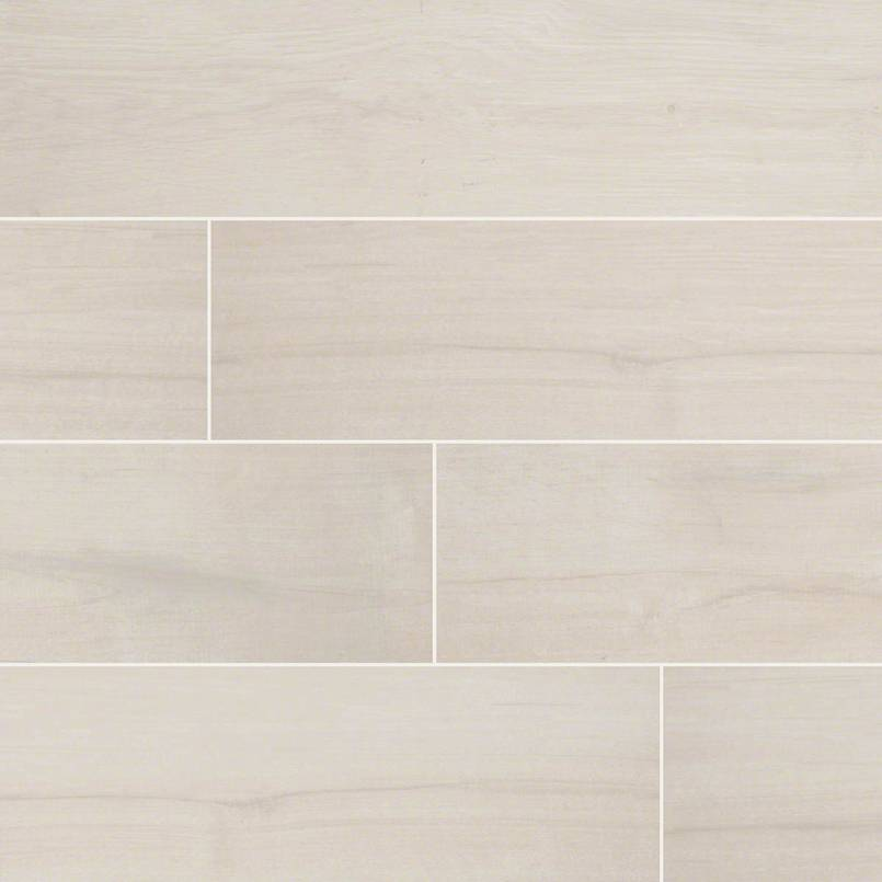 "Palmetto Bianco 6""X 36"" Matte Porcelain Wood look tile"