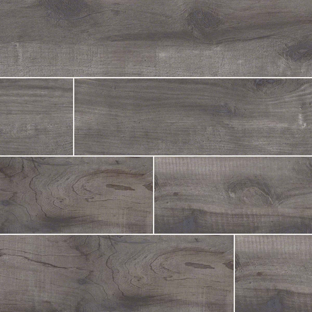 "Country River Mist 6""X 36"" Matte Porcelain Wood Look Tile"