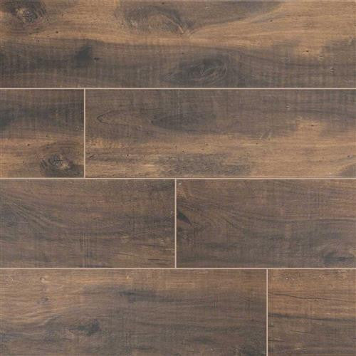 "Country River Bark 6""X 36"" Matte Porcelain Wood Look Tile"