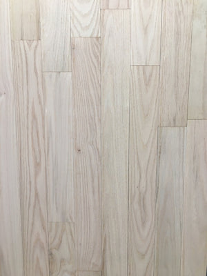"Raw 3 1/4"" select and better red oak"