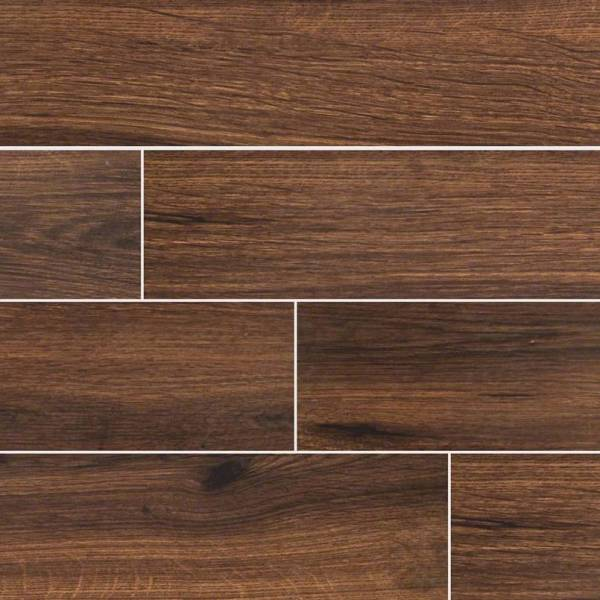 "Palmetto Walnut 6""x36"" Porcelain Wood Look tile"