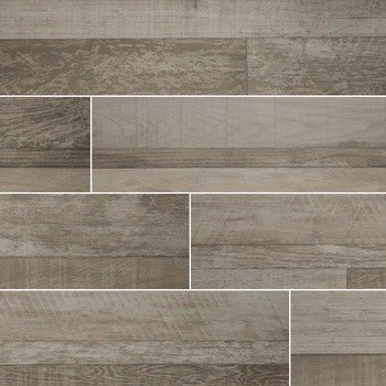 "Sierra Gris 9""X 48"" Matte Porcelain Wood Look Tile"