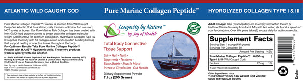 Pure Marine Collagen Peptide Powder