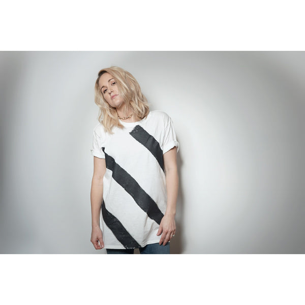 WOA | White Striped Tee