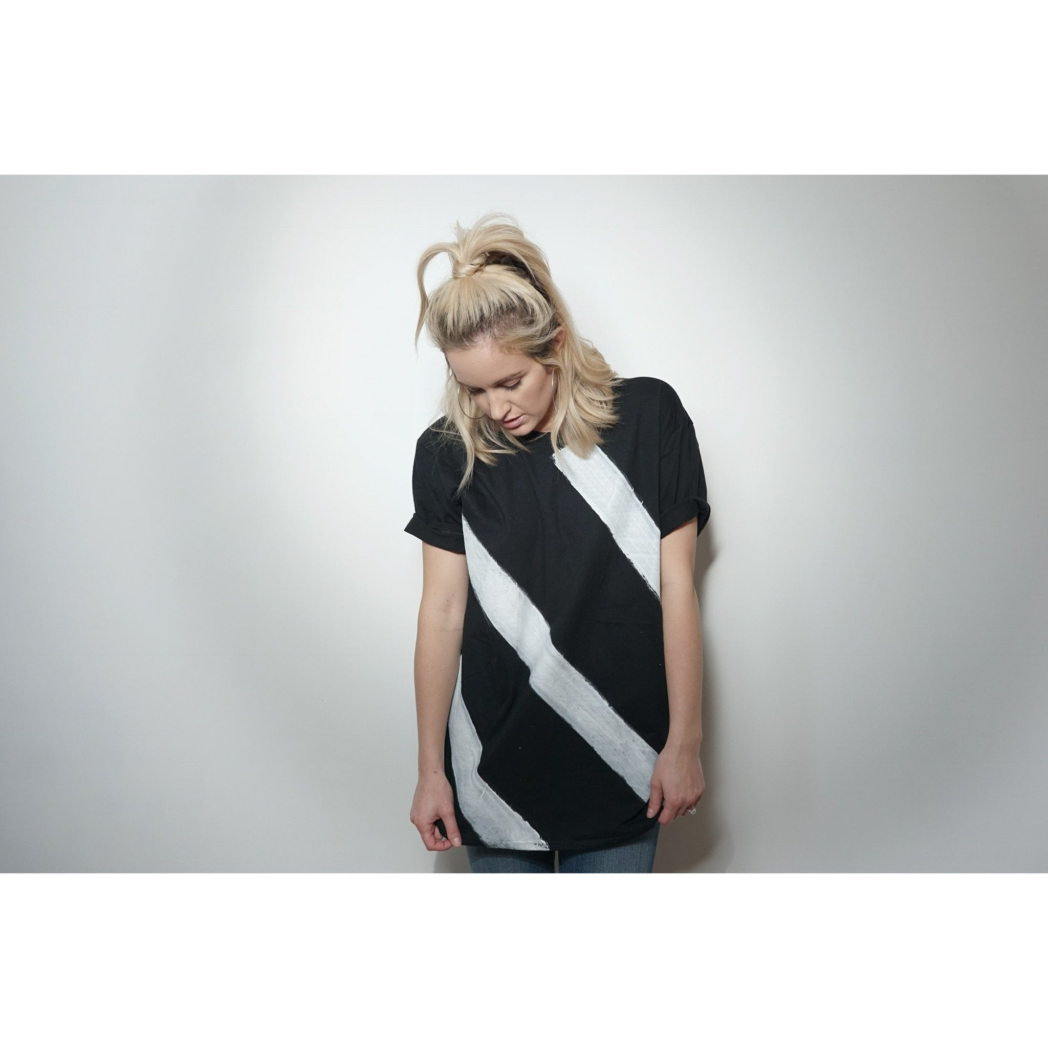 WOA | Black Striped Tee