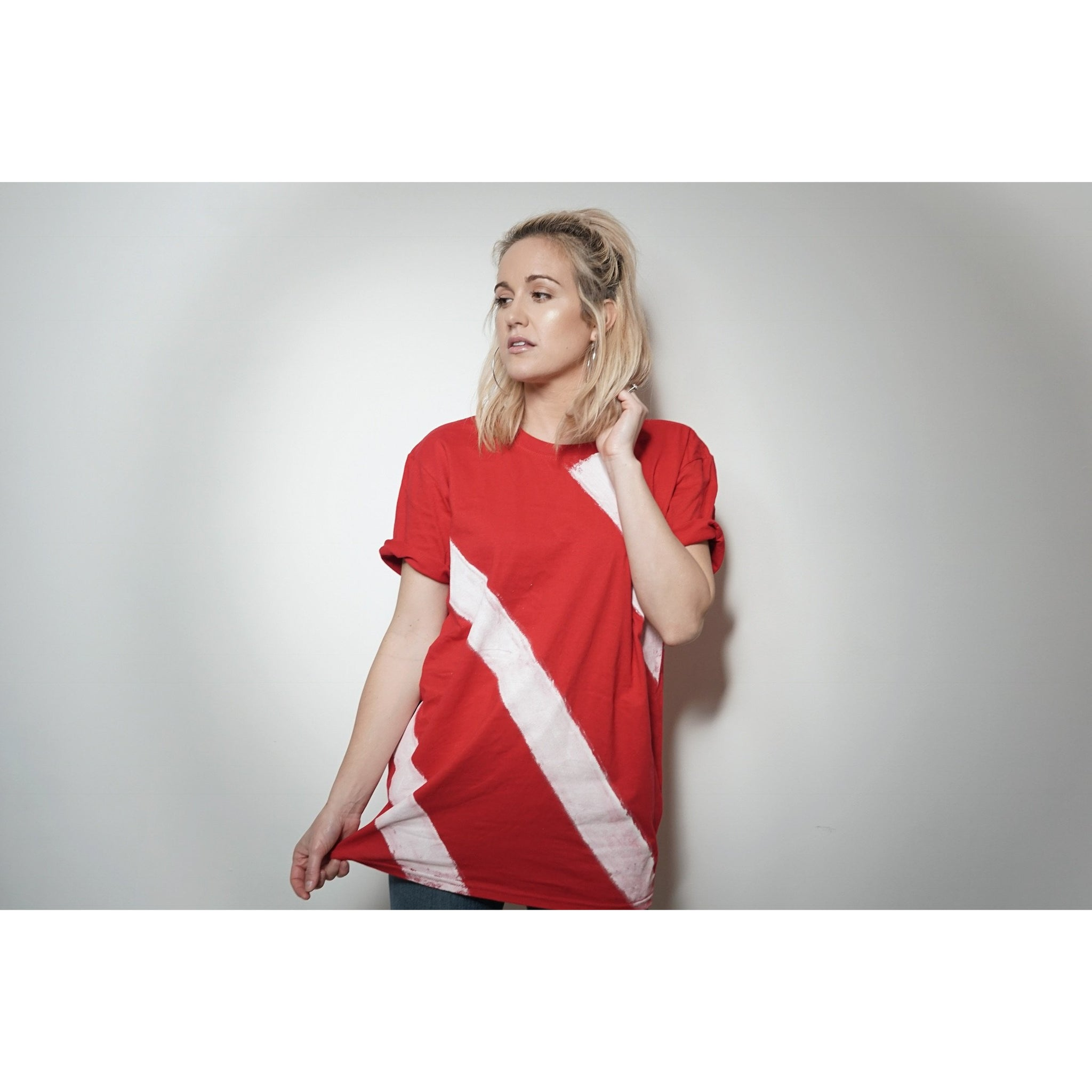 WOA | Red Striped Tee