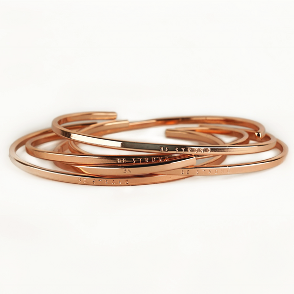 Be Strong | Rose Gold Bracelet