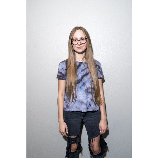 WOA | Purple Splash Tie Dye Tee