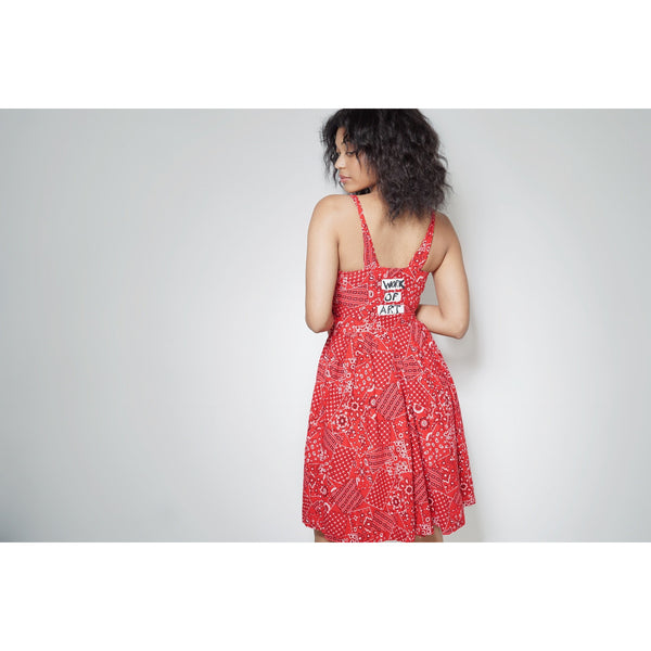 WOA | Red Bandana Dress ~ Vintage