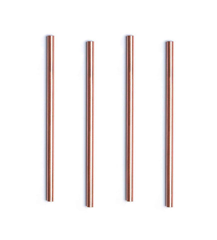 100% Copper Straws, Set of 4