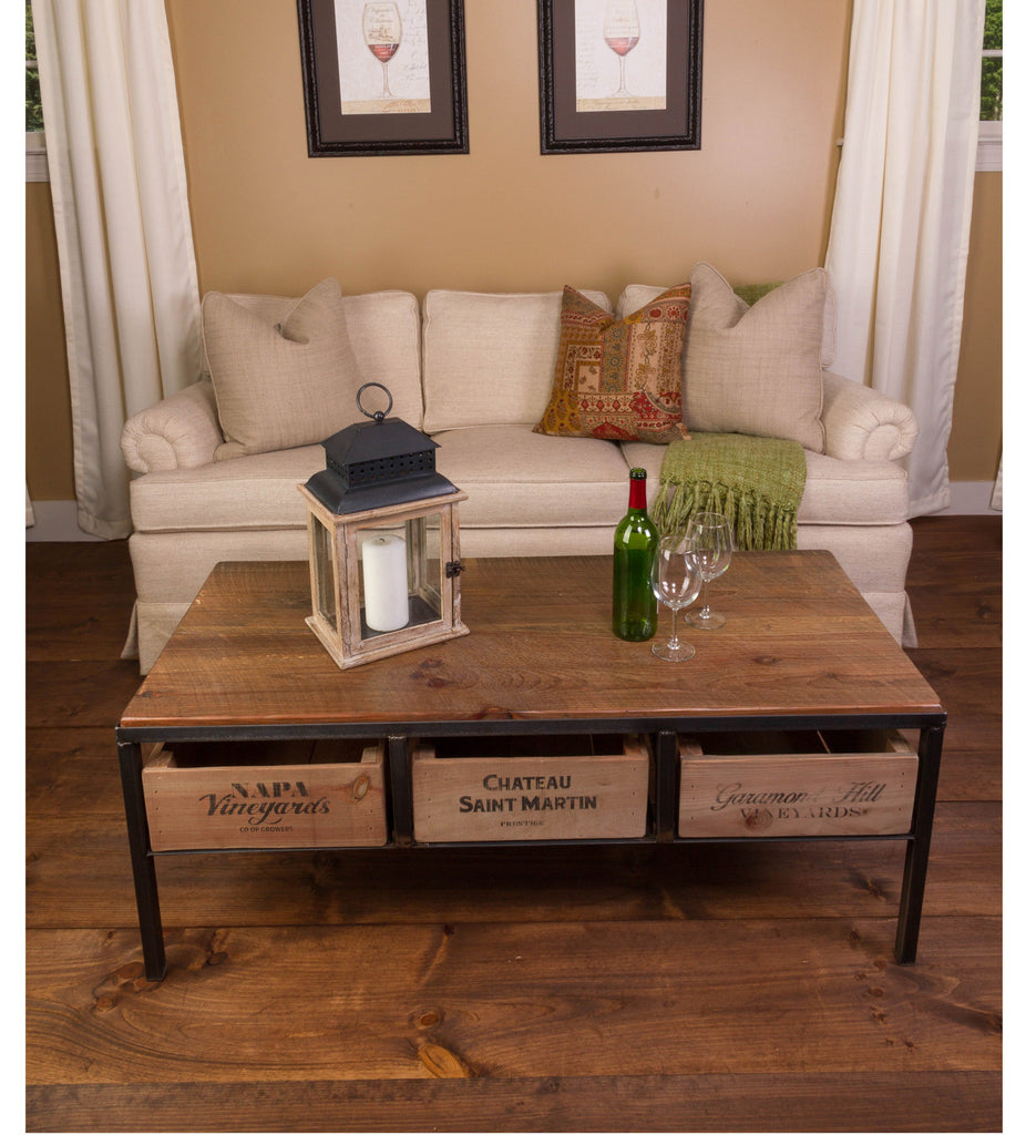 ... Vintage Wine Crate Coffee Table ...