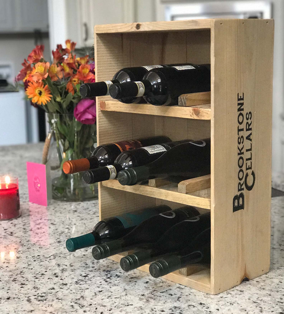 Well known Free Standing 12-Bottle Wine Crate Wine Rack | Rustic Wall Co. OE57