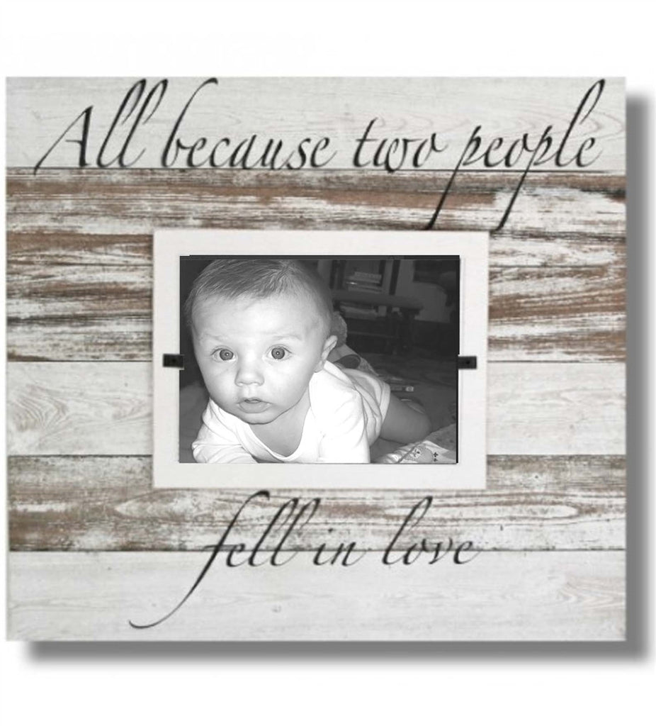 Baby Love Photo Frame from Reclaimed Wood, Because of Love (22 x 22)
