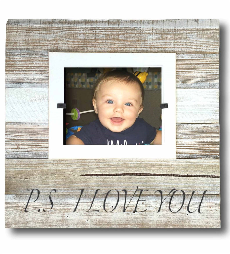 Love photo frames, love picture frames, rustic picture frames, PS I Love You Frame