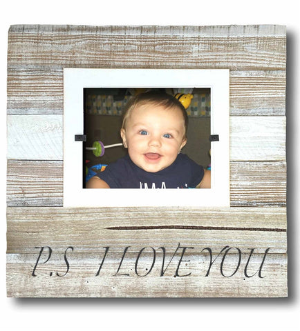"Reclaimed Wood Frame, ""PS I Love You"" (X-Large 22 x 22)"