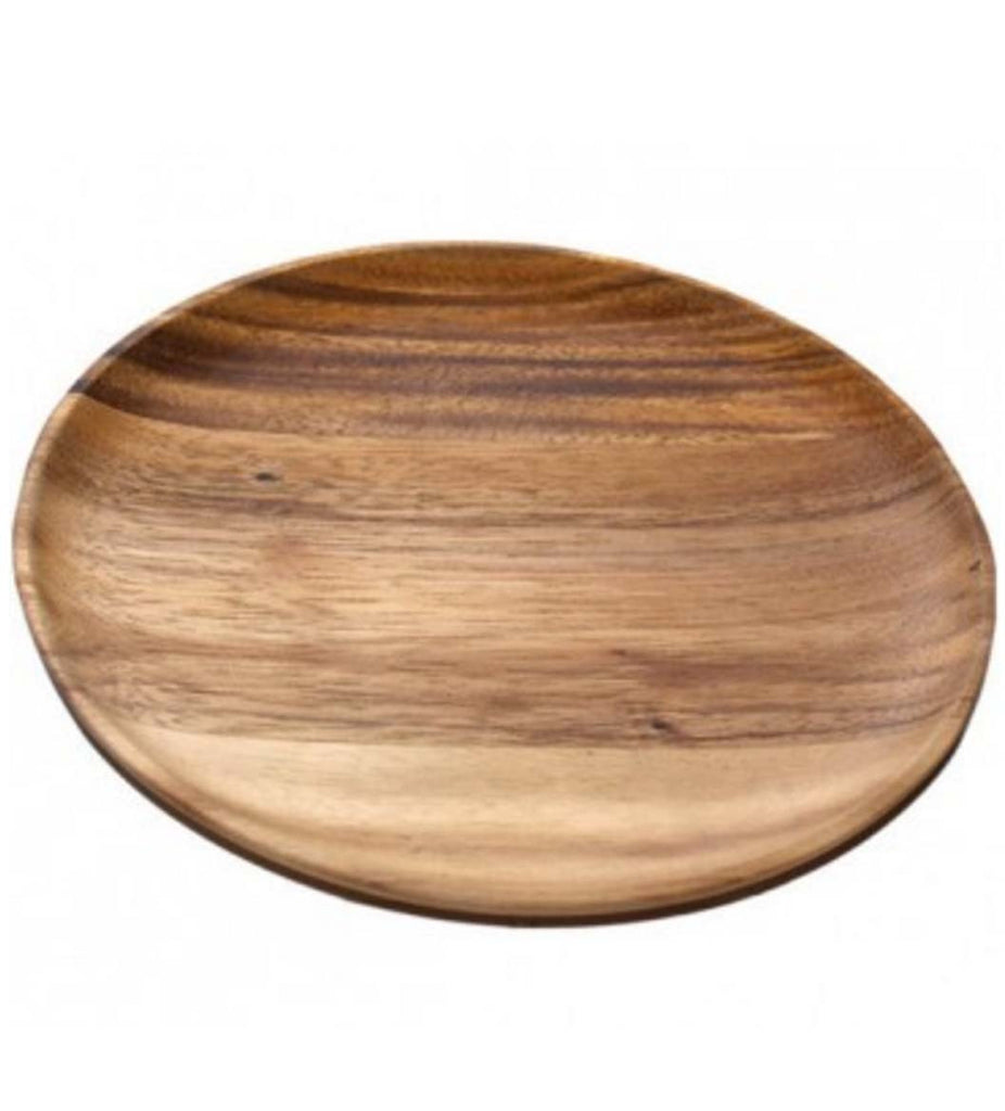 acacia wooden plates set of 4 large 12 dia rustic wall co