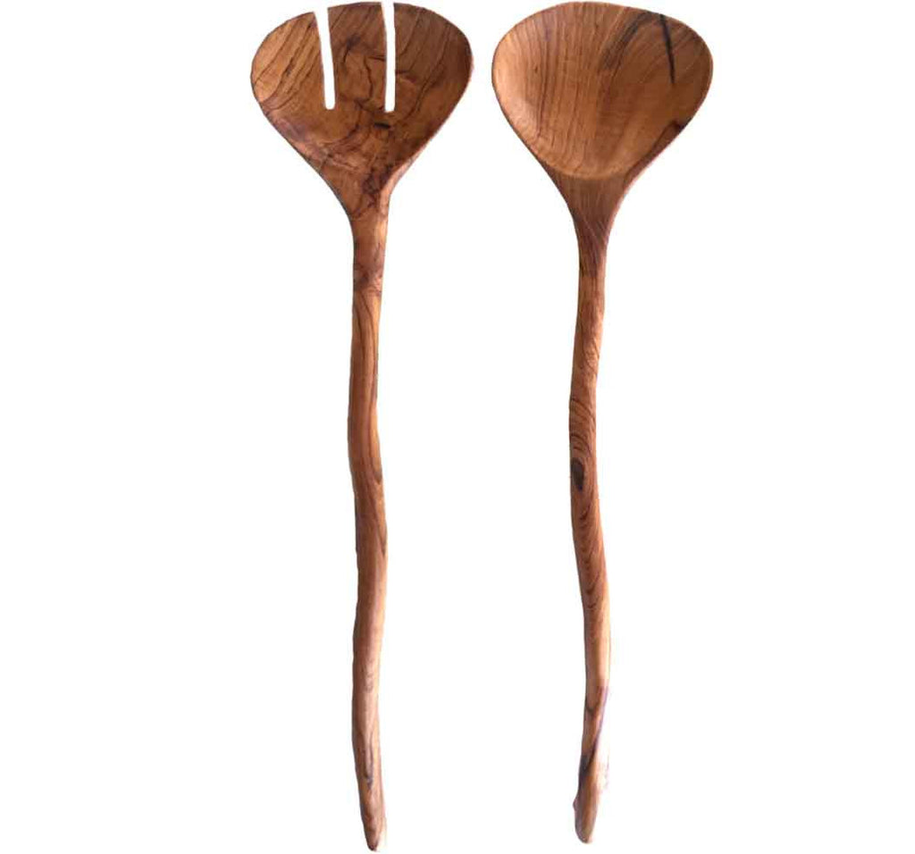 Artsy Teak Serving Set