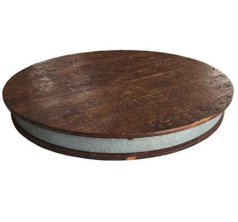 Bordeaux Wine Barrel Lazy Susan, 20-Inches