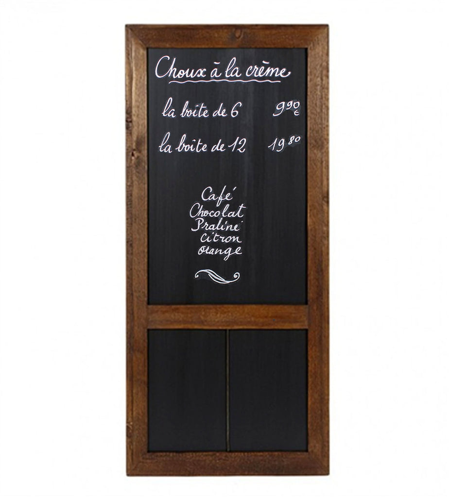 Large Hanging Reclaimed Wood Cafe Chalkboard