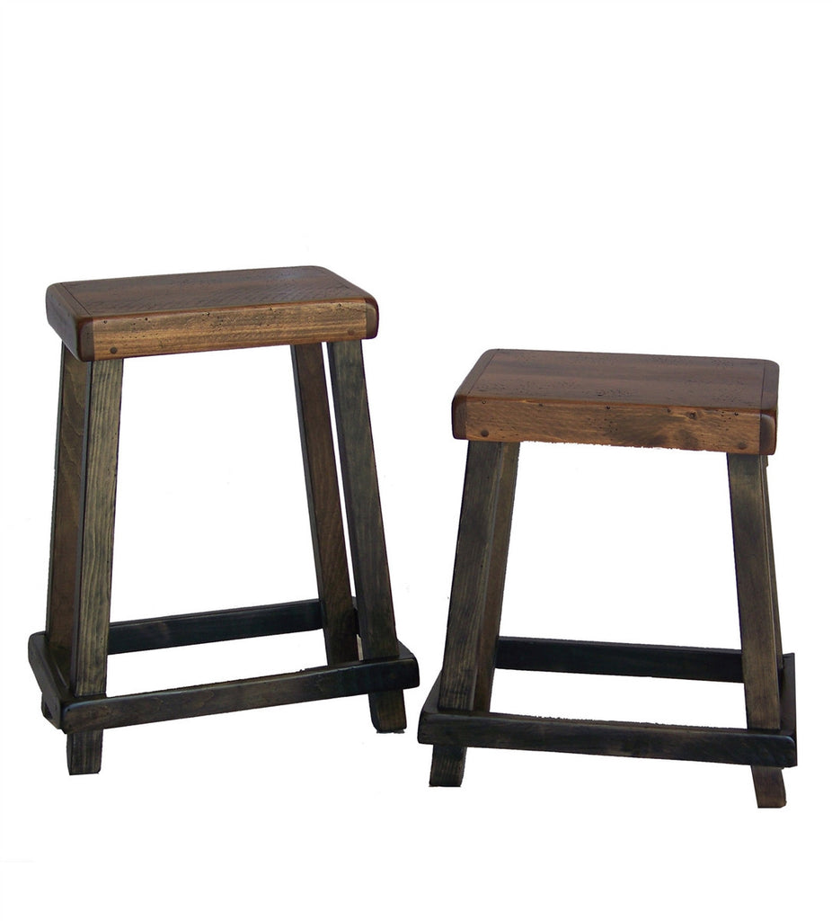 ... Reclaimed Barn Wood Chef's Counter Stool - Reclaimed Barn Wood Chef's Counter Stool Rustic Wall Co.