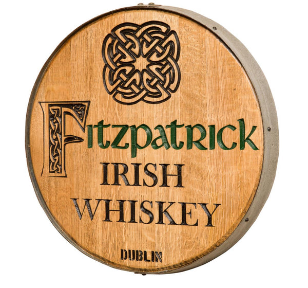 Celtic Knot Personalized Whiskey Barrel Head
