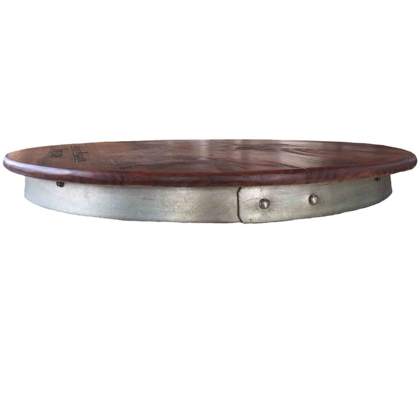 Extra Large Wine Barrel Lazy Susan, Metal Barrel Ring