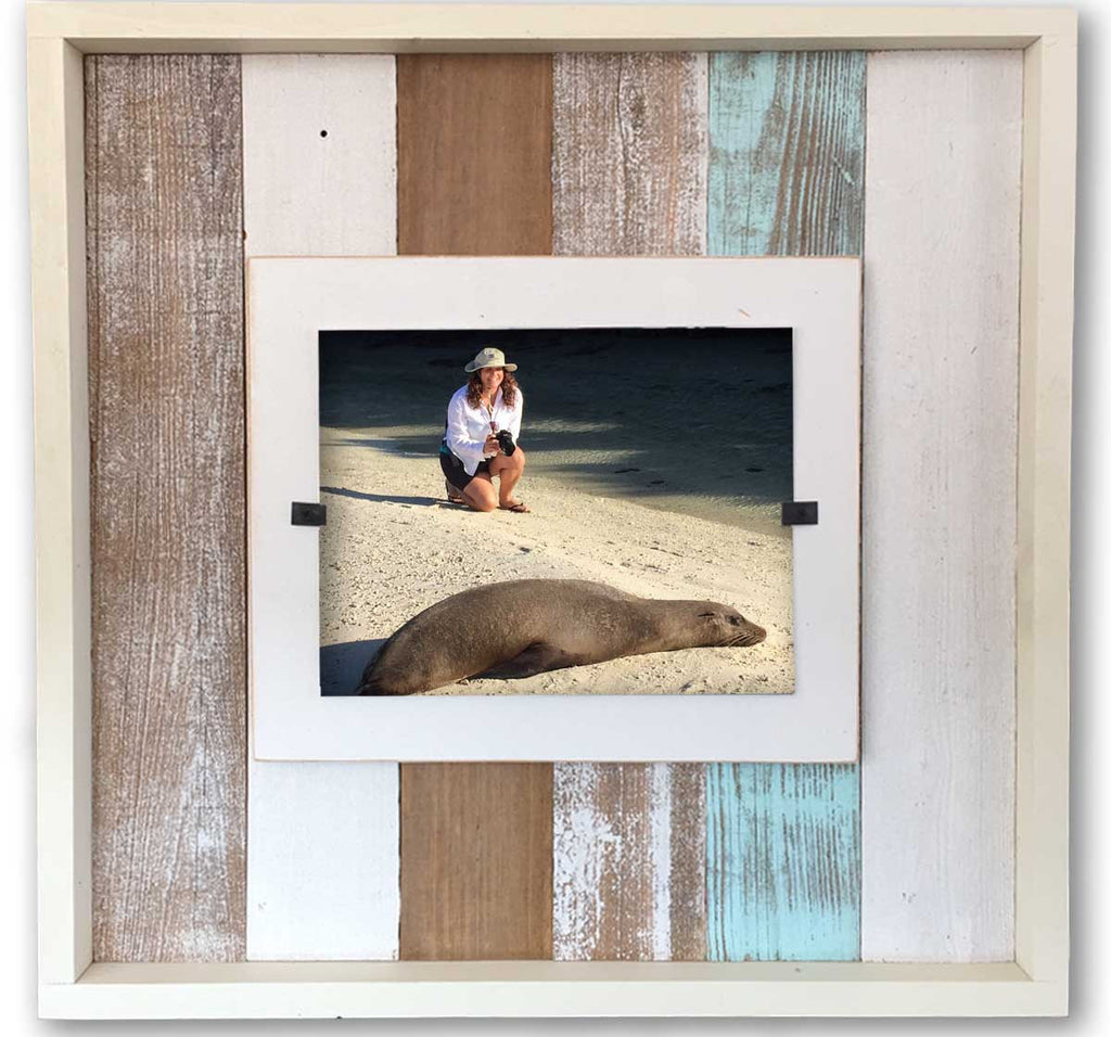 Reclaimed Wood Photo Frame, Sea Mist (22 x 22) | Rustic Frames