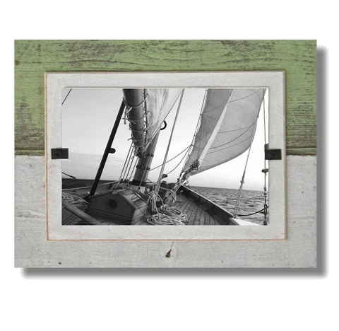Coastal Reclaimed Wood Frame (7 x 9), Lime Slat