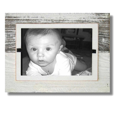 Coastal Reclaimed Wood Frame (7 x 9), White Wash