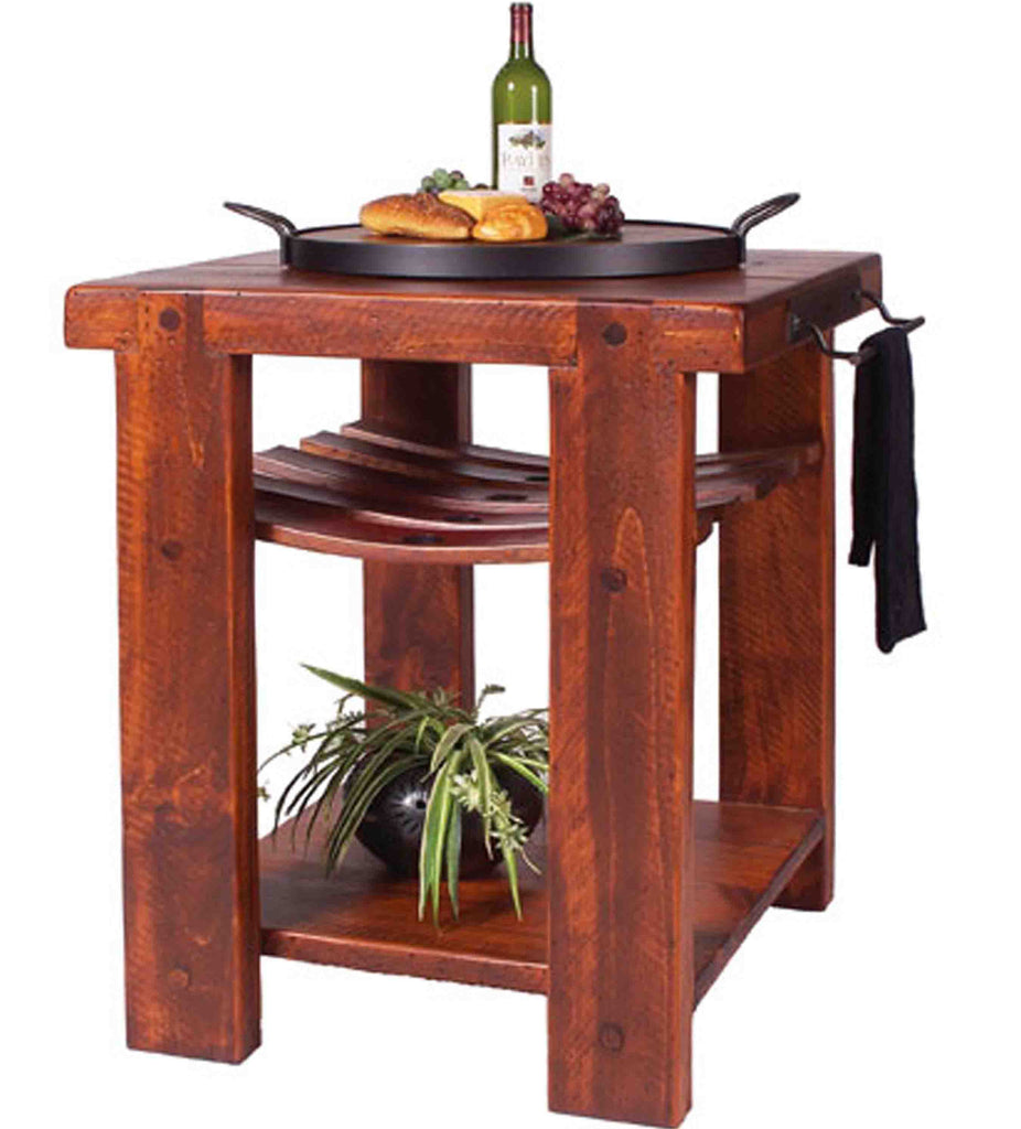 Rustic Wine Barrel Kitchen Island